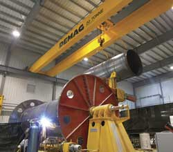 Bridge cranes serve the steel industry